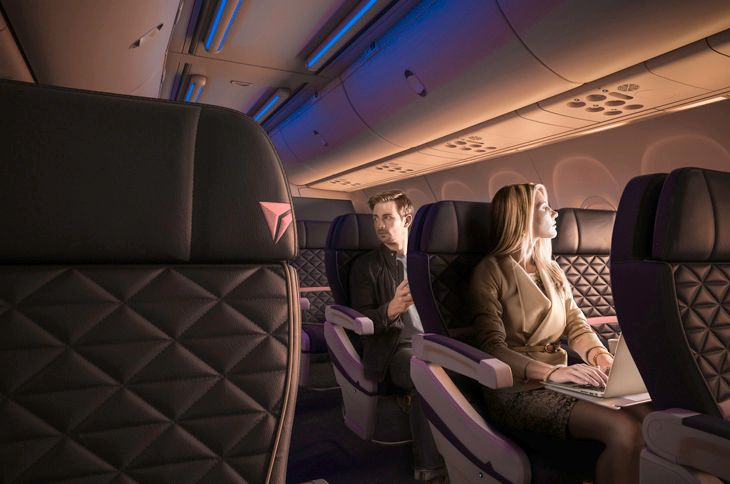 Delta wants to see more paying passengers in its first class cabins. (Image: Delta)