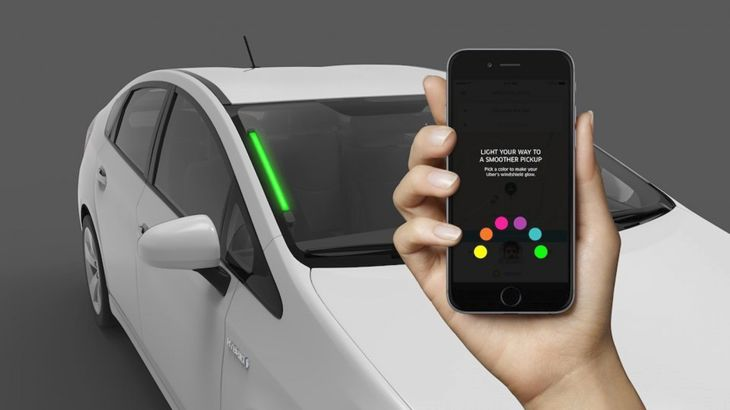 Uber is testing a light bar that makes its cars easy to find. (Image: Uber)