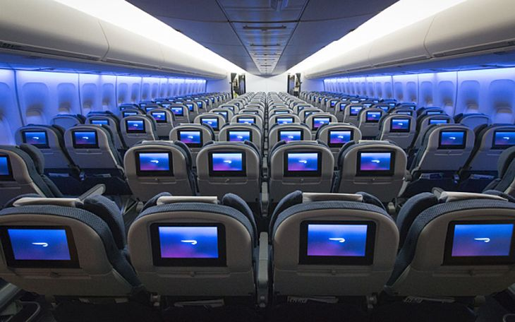 Newly refurbished economy section in a British Airways 747. (Image: British Airways)