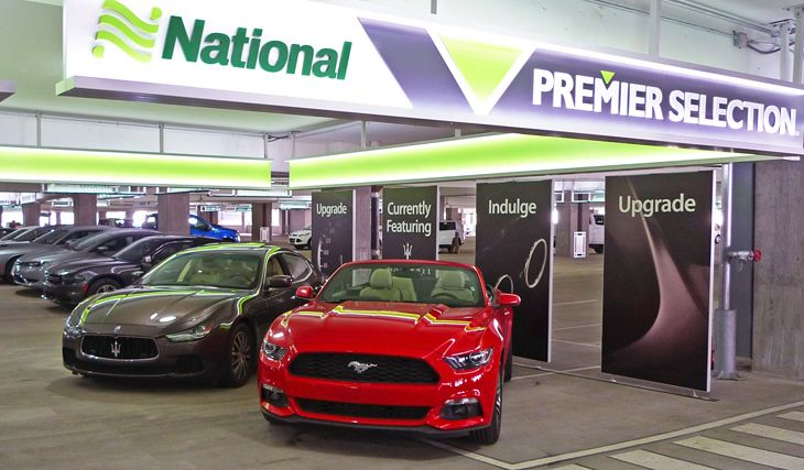 National's Premier Selection lets you upgrade on the spot. (Image: National Car Rental)