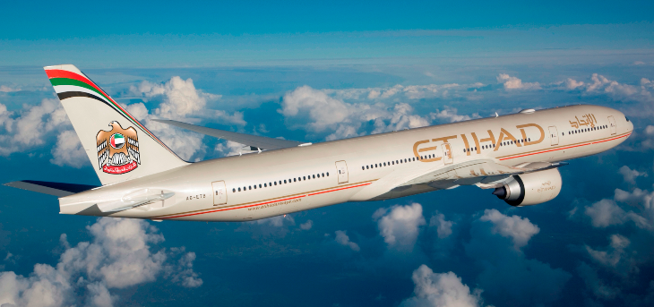 An Etihad Boeing 777-3FX (Photo: Etihad)