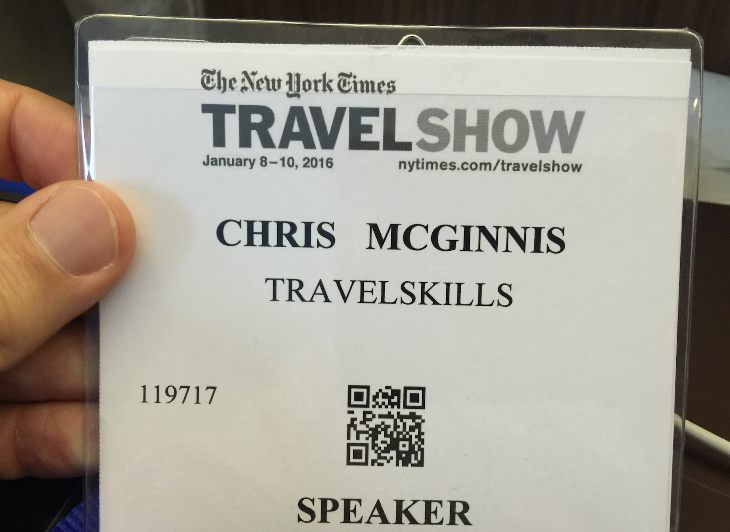 "Use code ""ROCKSTAR"" to get in NYT Travel Show for free to hear Chris speak!"