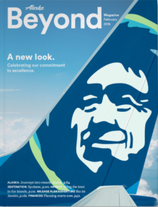 Cover Alaska Air's latest inflight magazine (Image: Alaska Air)