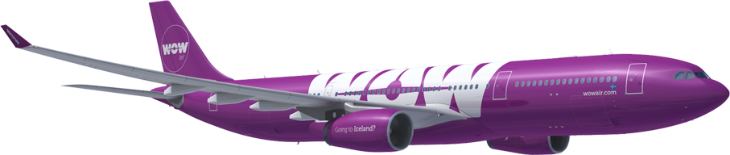 WOW Air will use an A330 on its new Miami-Reykjavik route. (Image: WOW Air)