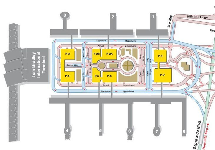 Los Angeles International terminal map. (Image: Los Angeles World Airports)