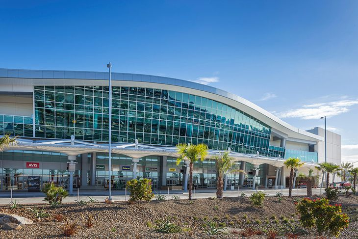 The new car rental center at San Diego's airport opens January 20. (Image: San Diego International Airport)