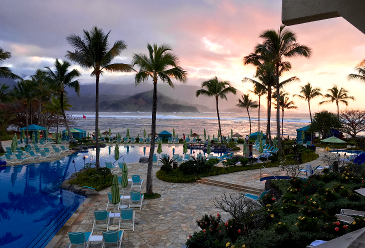 Aloha from Hawaii where we are burning off some SPG points at the St Regis Princeville on Kauai (Photo: Barkley Dean)
