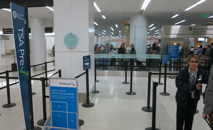 At 6:45 am, PreCheck at SFO's Terminal 2 was a breeze (Chris McGinnis)
