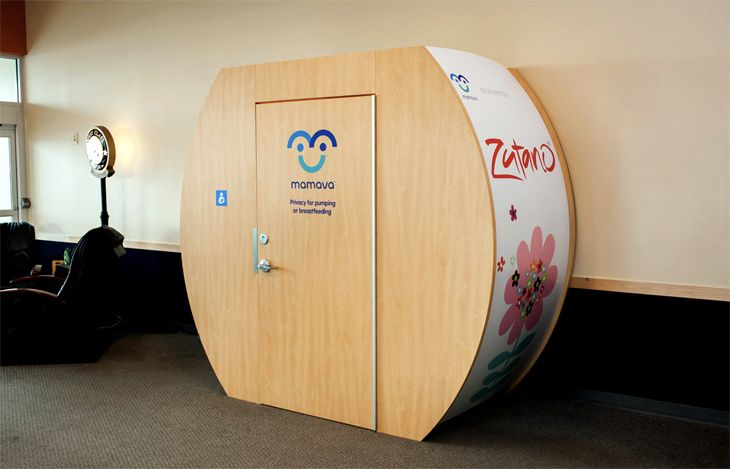 It's a new thing at Atlanta's airport. Can you guess what it's for? (Image: Mamava)