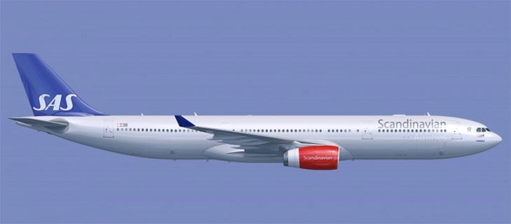 SAS will use an A340 on its new LAX-Stockholm route. (Image: SAS)