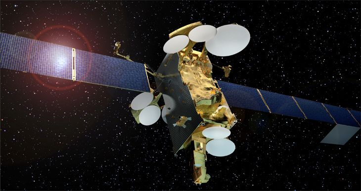 Airlines are shifting to Wi-Fi systems that communicate via satellites like this one.. (Image: SES/Airbus Defence & Space)