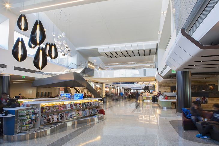 Part of the newly renovated Terminal 2 at Los Angeles International. (Image: Westfield Airports)
