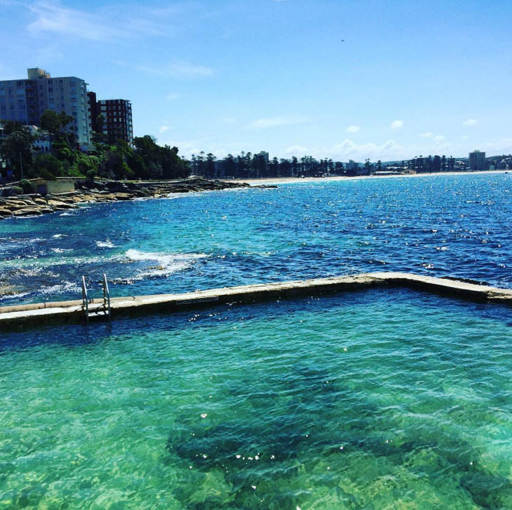 My most popular Instagram photo this week: One of Sydney's many rock pools for protected swimming. CLICK to follow me! (Chris McGinnis)