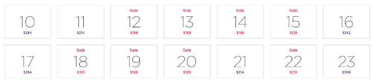 click through to calendar to see deals we grabbed here (NOTE: Fares subject to change!)