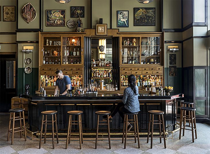 The lobby bar at the new Ace Hotel in New Orleans. (Image: Ace Hotels)