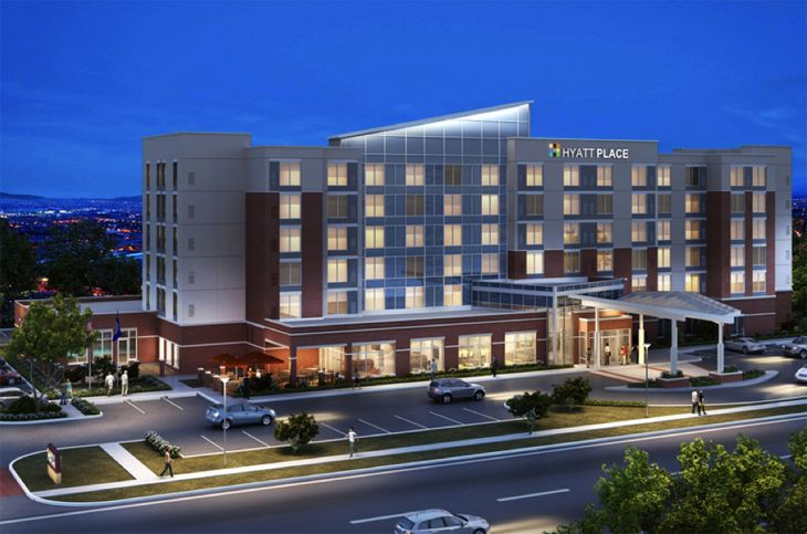 The new Hyatt Place at the southern entrance to DFW Airport. (Image: Hyatt)