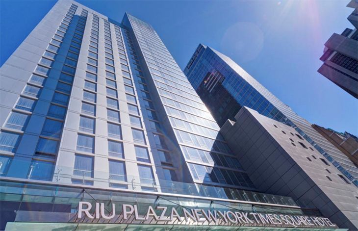 The new RIU near Times Square adds 600 rooms to New York City's inventory. (Image: RIU Hotels)