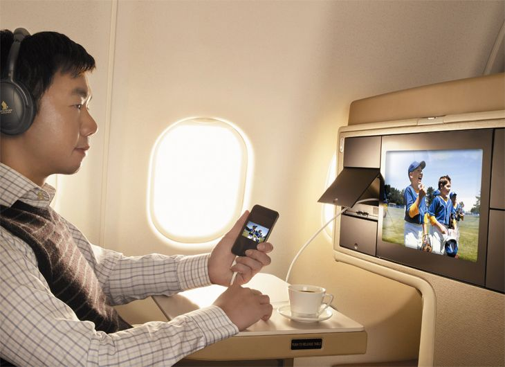 A new app will let Singapore Airlines passengers select in-flight entertainment options in advance. (Image: Singapore Airlines)