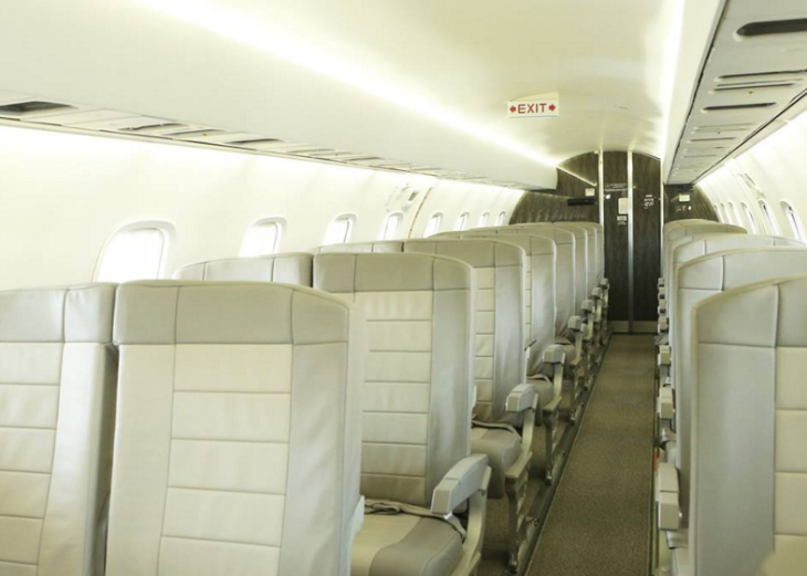 Interiors on JetSuite's Embraer 135 aircraft (Photo: JetSuite)