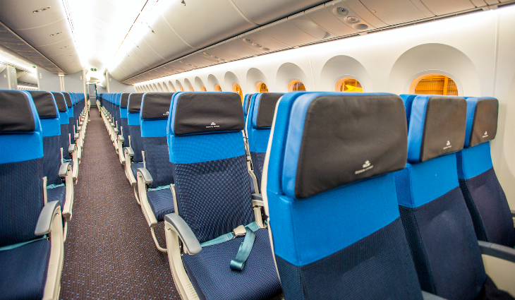 Economy class seats on KLM's new 787 (Photo: KLM)