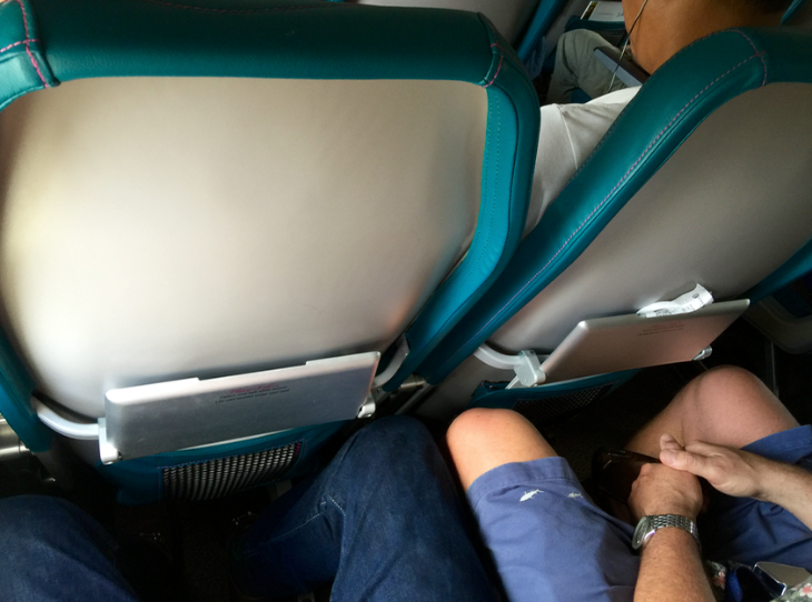 "Thinner ""slimline"" all the rage among airlines these days (Photo: Chris McGinnis)"