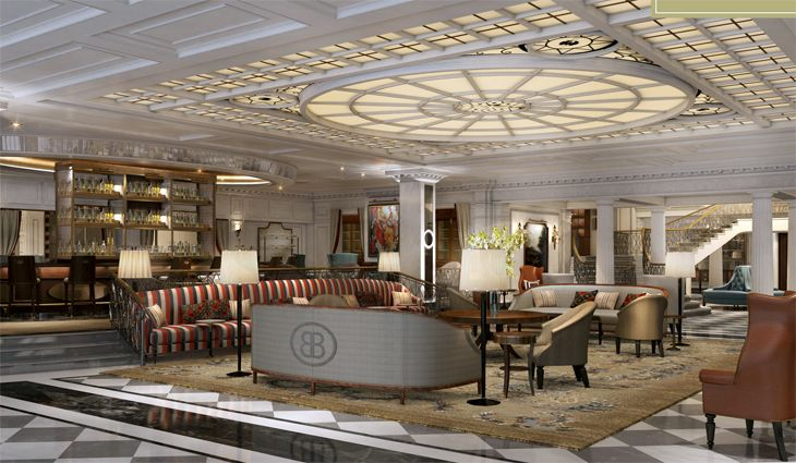 Lobby of InterContinental's reopened Barclay in New York. (Image: InterContinental)