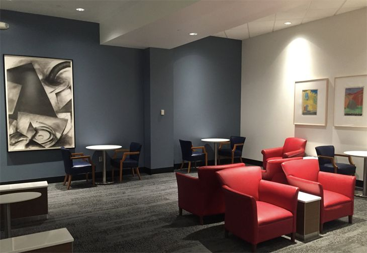 A section of the newly reopened Delta Sky Club at DFW. (Image: Delta)