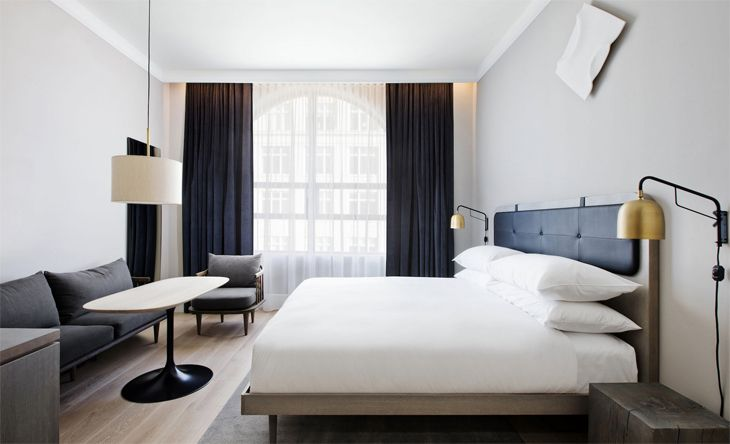 Guest room at the new 11 Howard in Manhattan's SoHo district. (Image: 11 Howard)