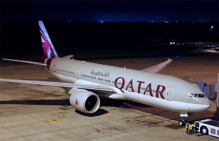 Qatar Airways plans to use a 777-200LR on its Atlanta route. (Image: Darren Koch/Wikimedia Commons)