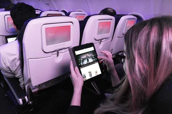 Virgin America starts charging for fast satellite-based Wi-Fi this month. (Image: Virgin America)