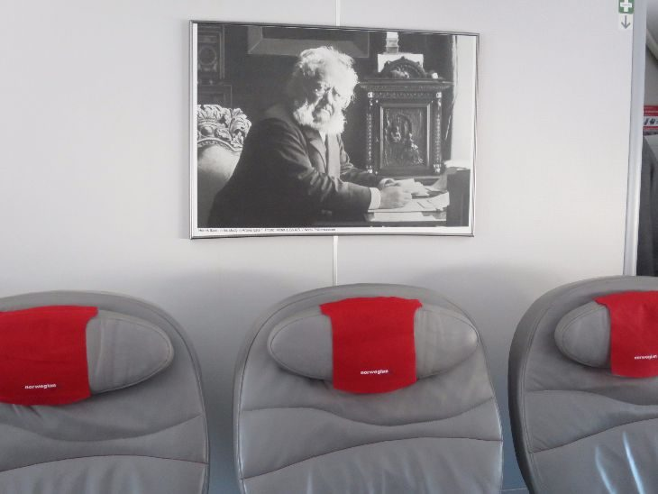 Nordic hero Henrik Ibsen graces a bulkhead wall.