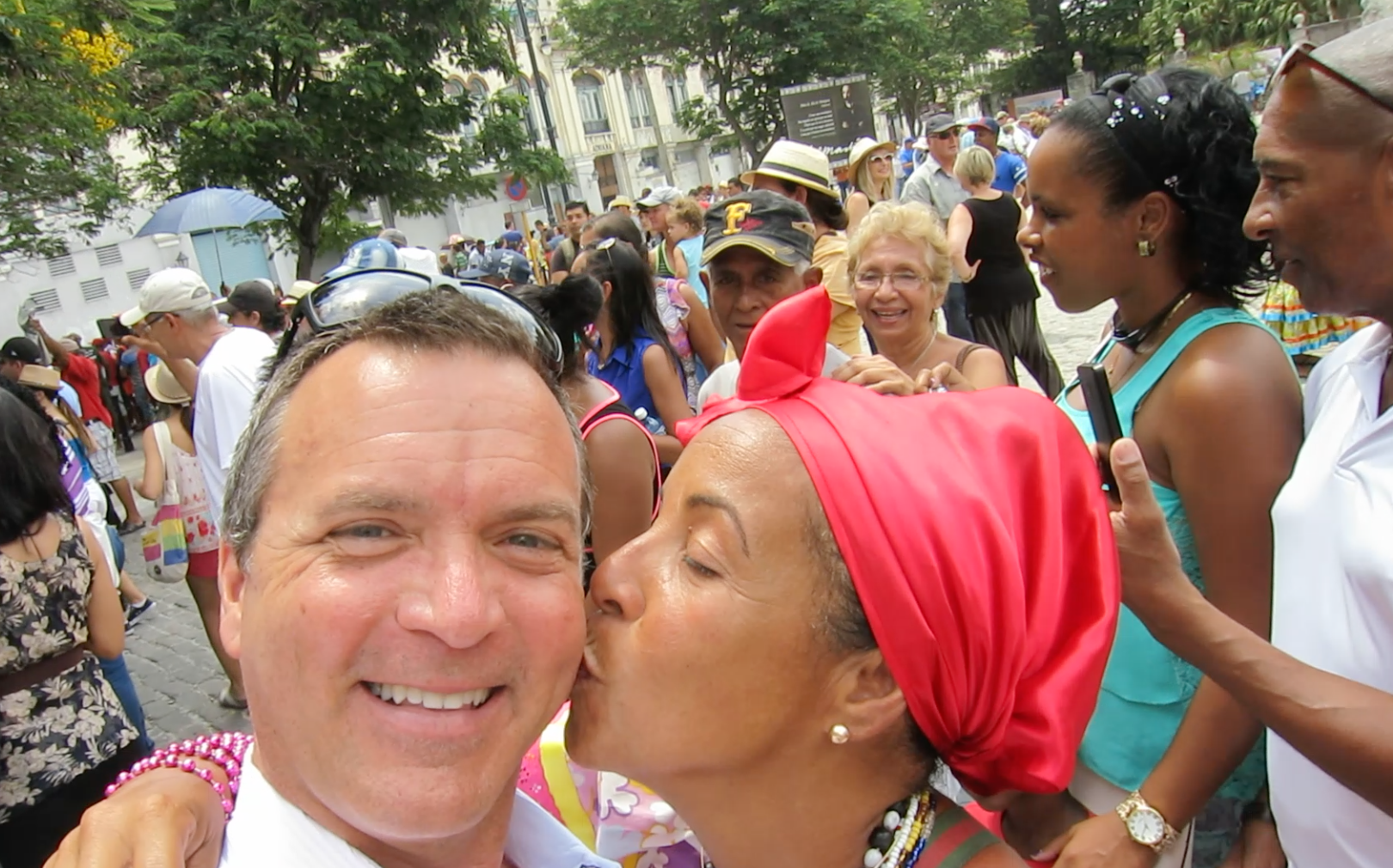 My welcome kiss came with a price in Havana (Photo: Chris McGinnis)