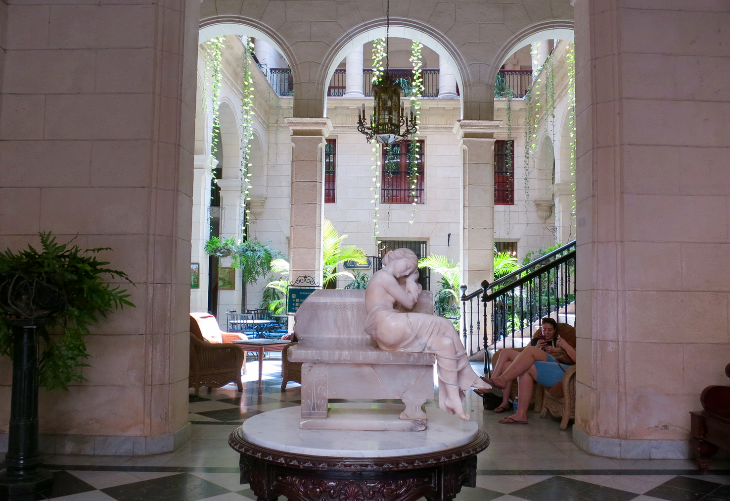 Amid the ruins of Havana, you'll find gems like this gorgeous, peaceful courtyard (Photo: Chris McGinnis)