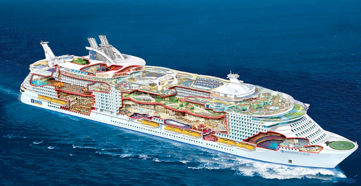 Royal Caribbean's newest ship is longer than the Eiffel Tower is tall (Image: Royal Caribbean)