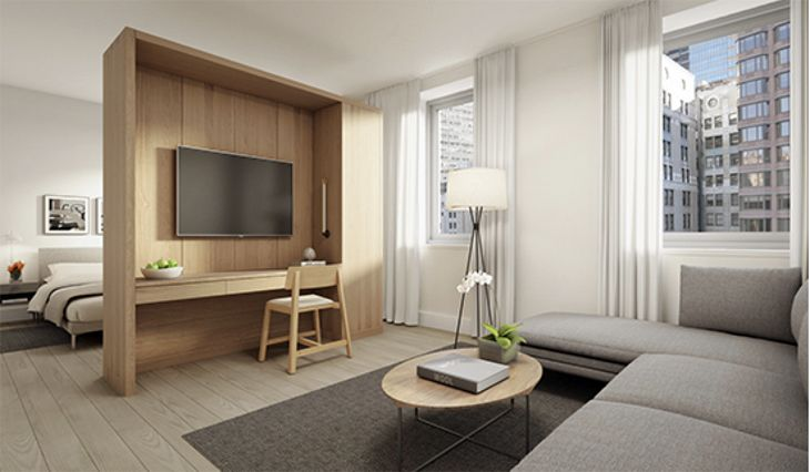 A big rental suite at the AKA Wall Street. (Image: AKA)