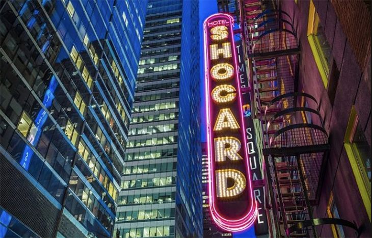 New York's new Shocard brings a Broadway-style buzz. (Image: Shocard Hotel)