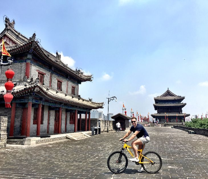 Biking on the city wall (Photo: Dan Erwin)