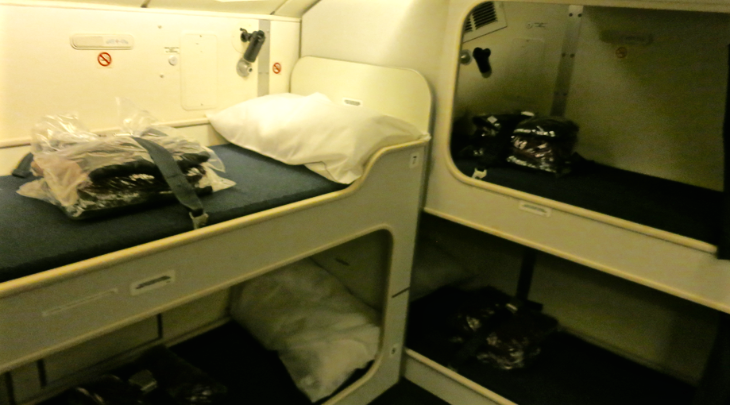 crew rest area Qantas 747