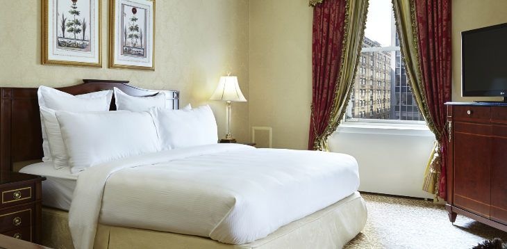 Room decor at the Waldorf is nice, but dated (Photo: Waldorf-Astoria)