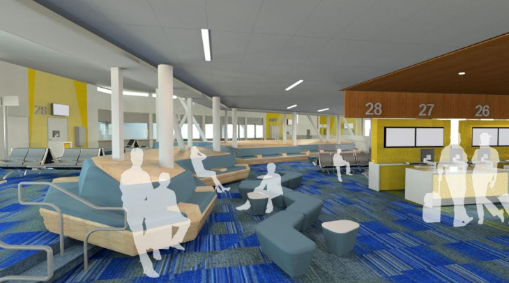 Rendering of what Southwest's Interim Terminal B gates will look like (SFO)