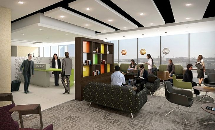 Rendering of the Escape Lounge coming to Bradley International. (Image: MAG USA)
