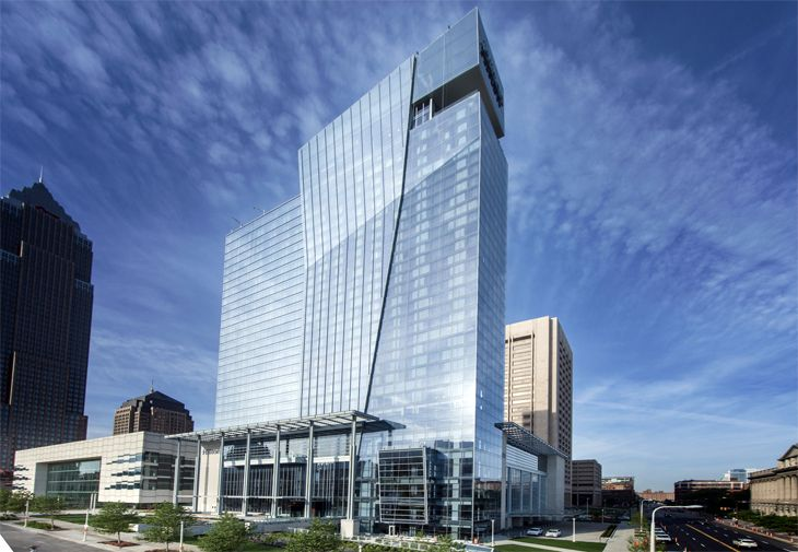 The new Hilton Cleveland Downtown overlooks Lake Erie. (Image: Hilton)