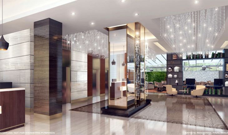 The lobby of the new Holiday Inn-Brooklyn Downtown. (Image: Holiday Inn)