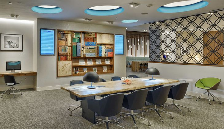 The new American Express Centurion Lounge at Houston Bush Intercontinental. (Image: American Express)