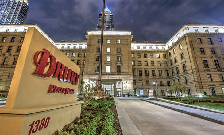 An historic building in downtown Cleveland is now the Drury Plaza Hotel. (Image: Drury Hotels)