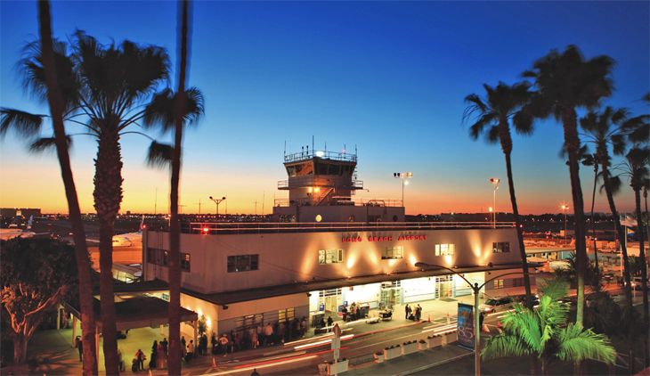 A new study finds travelers at Long Beach, California's airport pay the lowest average fares. (Image: Long Beach Airport)