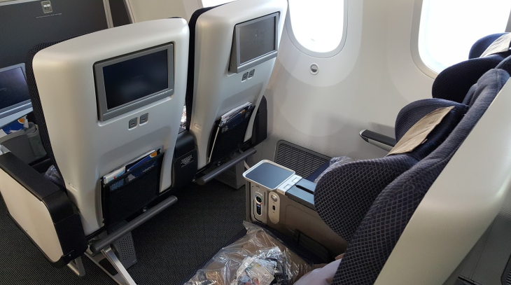British Airways World Traveler Plus premium economy 787