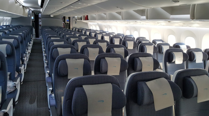 British Airways economy class 787