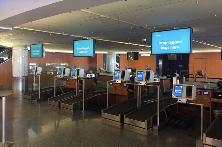 Alaska Airlines is testing self-service bag drops at LAX. (Image: Alaska Airlines)