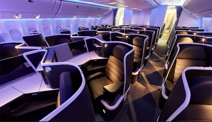 The new business class on a Virgin Australia 777-300. (Image: Virgin Australia)